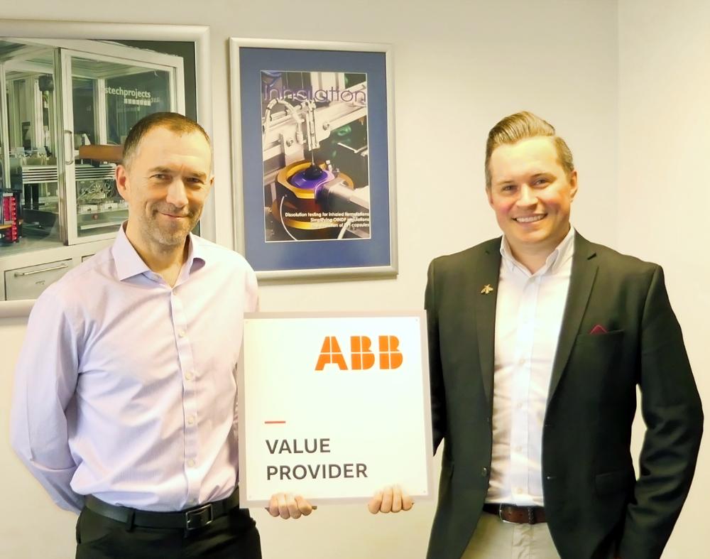 Astech ABB partnership plaque 1